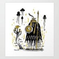 atlanta Art Prints featuring ATLANTA by tarmasz