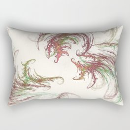 Harvest Winds Fractal Rectangular Pillow