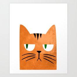 Orange cat with attitude Art Print