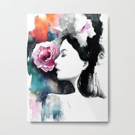 Pink rose by Anna Radis Metal Print