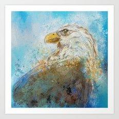 Expressive Bald Eagle Art Print