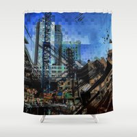montreal Shower Curtains featuring Montreal urbania by Jean-François Dupuis