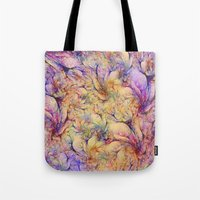 nudes Tote Bags featuring Nudes in Flowers by Klara Acel