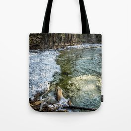 Yosemite Creek with some Frazil Ice Tote Bag