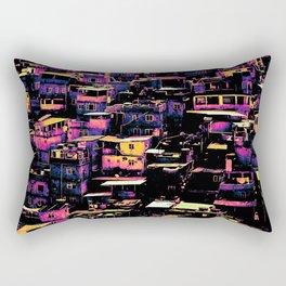 Homes On A Hill Pop Art Rectangular Pillow