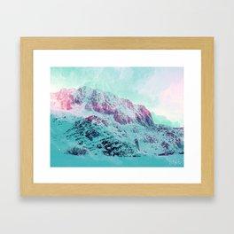 Pastel Magic Mountains Framed Art Print