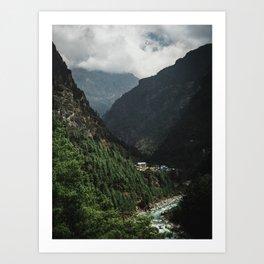 Nepal Series | Phakding, Himalayas Art Print