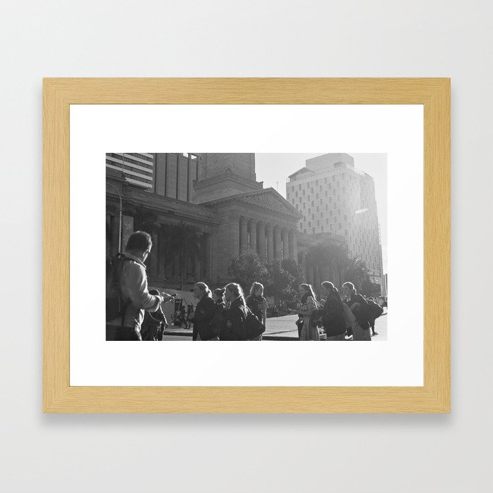 Have you seen the light? Framed Art Print