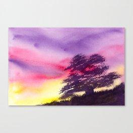 Burst of Twilight Canvas Print