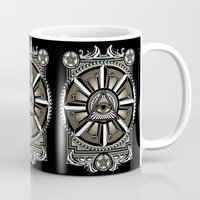 all seeing eye Mugs featuring All Seeing Eye by Pancho the Macho