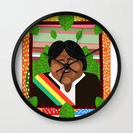 Evo Morales Wall Clock