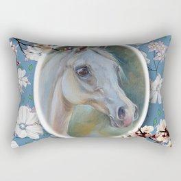 Spring Horse Rectangular Pillow