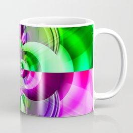 Symmetry green pink Coffee Mug