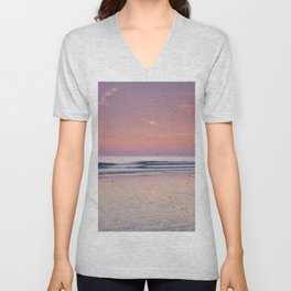 Cadiz. Barrosa Beach At Sunset. Unisex V-Neck
