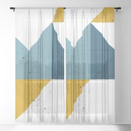 Modern Geometric 19 Sheer Curtain