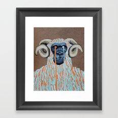 Gorilla Sweater Framed Art Print