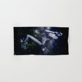 Deep Blue Galaxy Woman : Nude Art Hand & Bath Towel