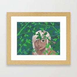 A Leafy Hello Framed Art Print