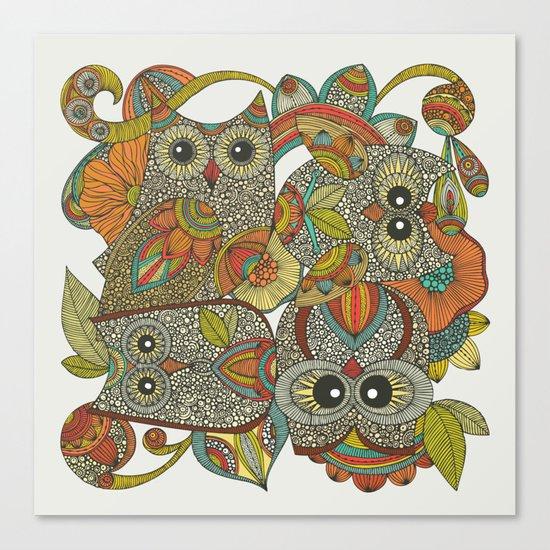 4 Owls Canvas Print
