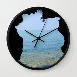 Window to the Sea Wall Clock