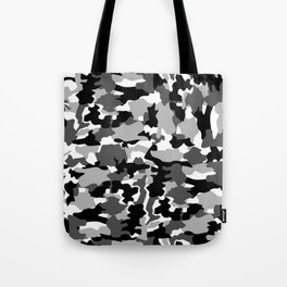 black and white Background Pattern Camo Tote Bag