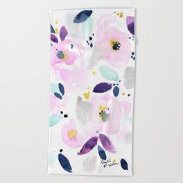 Mystical Floral Beach Towel