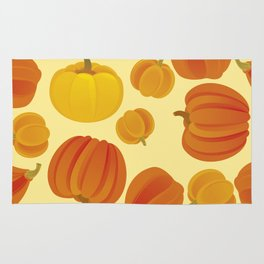 Pumpkins. Thanksgiving day. Rug