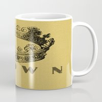 crown Mugs featuring Crown by NYLONPISTOL