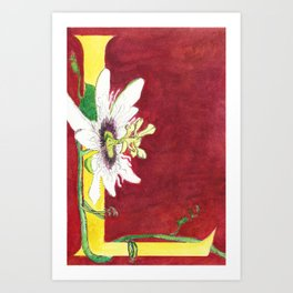 L is for Lilikoi Art Print