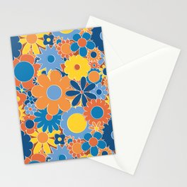 Funky Daisy Floral in Sunny Daze Stationery Cards