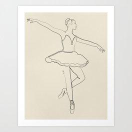 The Ballerina Line Art Print