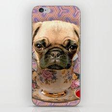 A little pug of tea iPhone & iPod Skin
