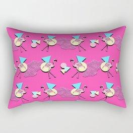 80s Flamingos Rectangular Pillow