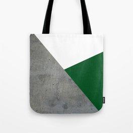 Concrete Festive Green White Tote Bag