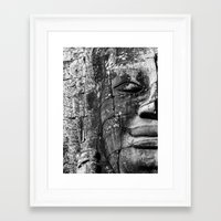 watchmen Framed Art Prints featuring Khmer watchmen by Luis Gago