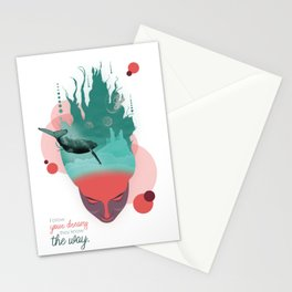 Follow your dreams they know the way Stationery Cards