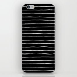 White in Black Lines iPhone Skin