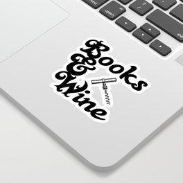 Books & Wine Sticker