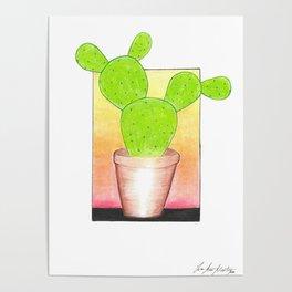 Prickly Pear Puesta Del Sol Poster