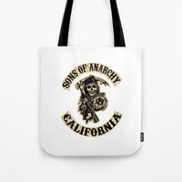 sons of anarchy Tote Bags featuring Sons of anarchy Motorcycle club by OverClocked