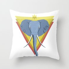 Regal Elephant Throw Pillow