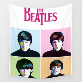 Liverpool Band Illustration Wall Tapestry