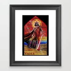 STAR WARS Stained Glass Lord Vader Framed Art Print