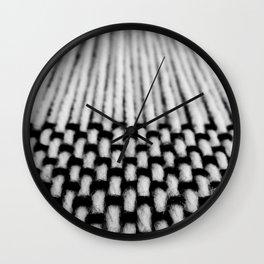 Loom Weaving 2 Wall Clock