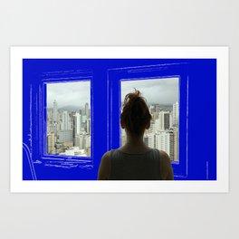 Living in a Blueprint Art Print