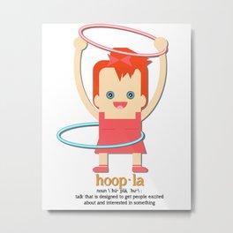 Hoopla Hula Hoop Ginger Metal Print