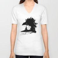 napoleon V-neck T-shirts featuring Napoleon Bonaparte by viva la revolucion