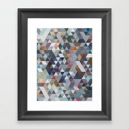 Triangles Pastel 2 Framed Art Print
