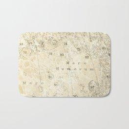 Antique Moon Map Bath Mat