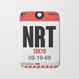NRT Tokyo Luggage Tag 1 Bath Mat